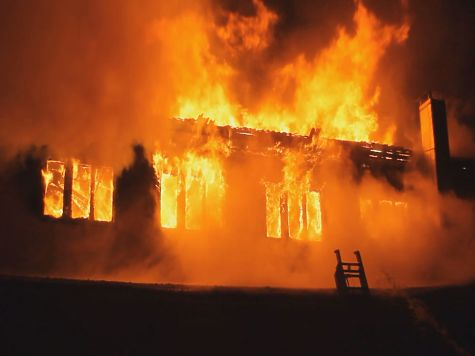 ВБарнауле выгорел 2-ой этаж административного здания наФурманова