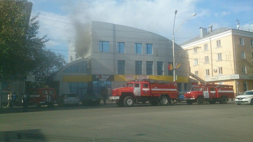 Пожар произошел вкафе вцентре Барнаула