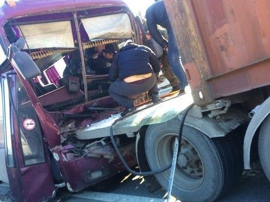 Шесть человек пострадали в ДТП с автобусом и грузовиком на Алтае